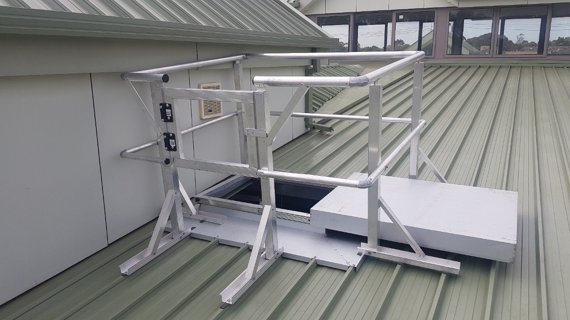 Hatch with Handrail Kit for Roof Access