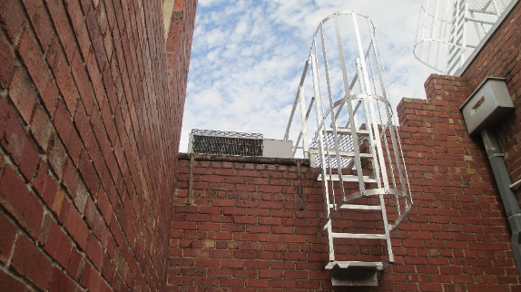 Caged Ladder for Safe Roof Access