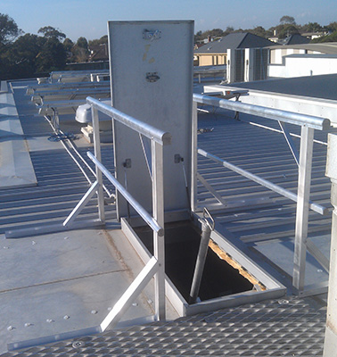 Hatch with Handrail Kit for Safe Roof Access