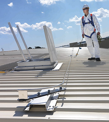 Static Line for Roof Safety